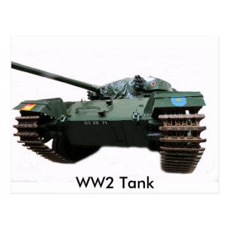 WW2 Tank Postcard