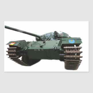 WW2 Tank Rectangular Sticker