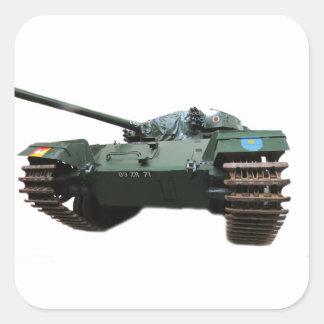WW2 Tank Square Stickers