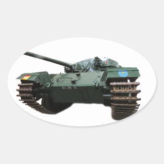 WW2 Tank Oval Stickers