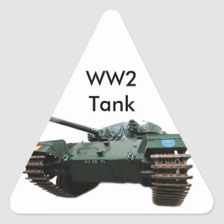 WW2 Tank Triangle Sticker