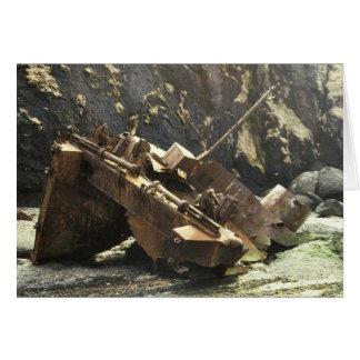 WW II Landing Craft Wreck on Amchitka Island Greeting Card