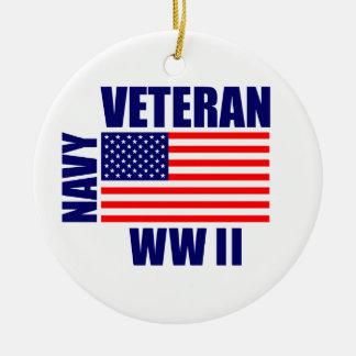WW II NAVY Veteran Christmas Ornament