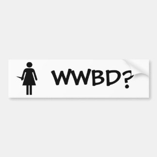 WWBD? BUMPER STICKER