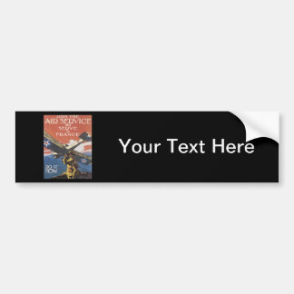WWI Advertisement Enlisting Car Bumper Sticker