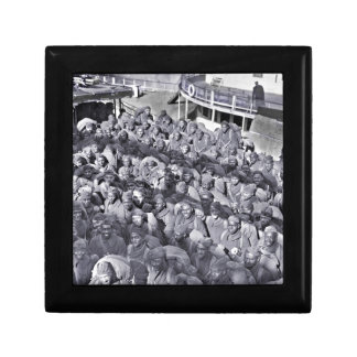 WWI Black Soldiers on Transport Ship Gift Box