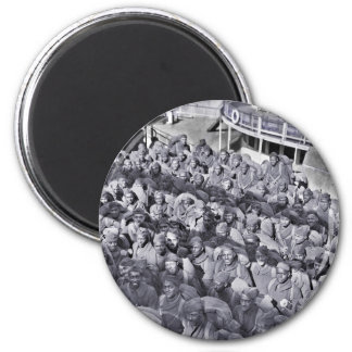 WWI Black Soldiers on Transport Ship Magnet