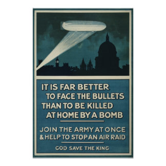 "WWI British Army recruitment poster 20""x30"""