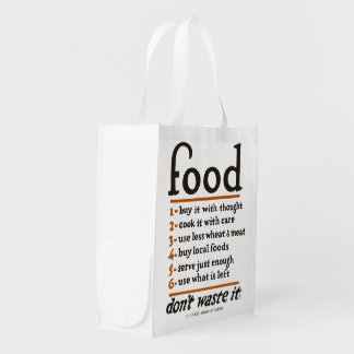 """WWI """"Food—Don't Waste It"""" Reusable Grocery Bag"""