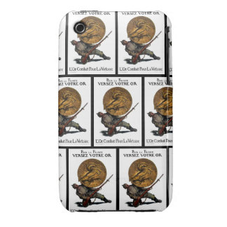 WWI Gold for French Victory iPhone 3 Case