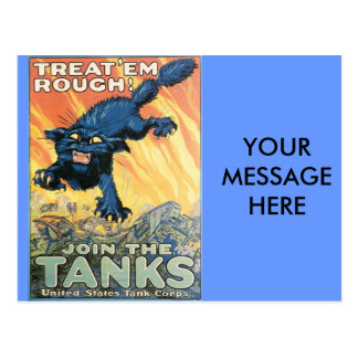 WWI: Join the Tanks Line Postcard