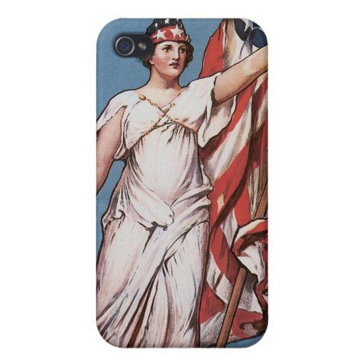 WWI Poster Liberty Calls Vintage iPhone 4/4S Covers