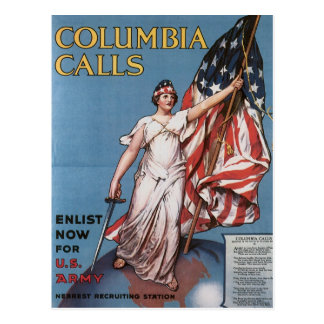 WWI Poster Liberty Calls Vintage Post Card