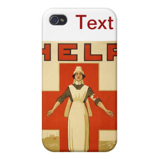 WWI Poster Red Cross Vintage iPhone 4 Cases
