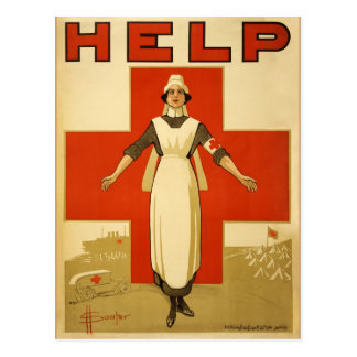 WWI Poster Red Cross Vintage Post Cards