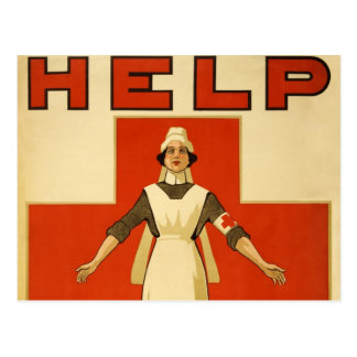 WWI Poster Red Cross Vintage Postcards