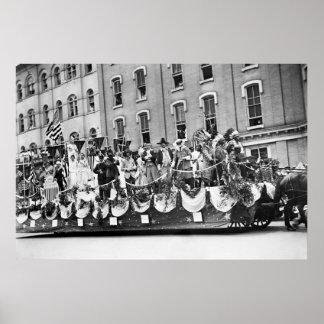 WWI Preparedness Parade, 1916 Poster