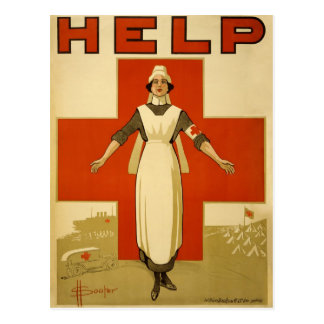 WWI Red Cross Nursen original poster Postcard