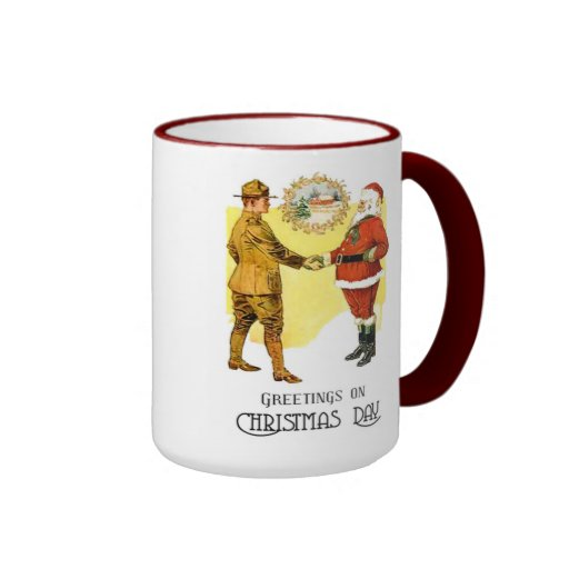WWI US Army Christmas Coffee Cup Mug