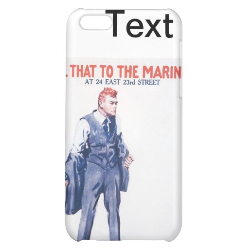 WWI Vintage US Marines Poster iPhone 5C Covers