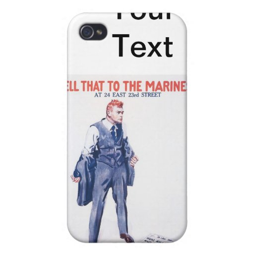WWI Vintage US Marines Poster Case For iPhone 4