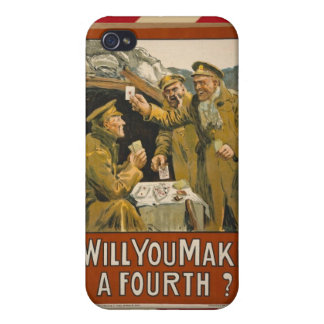 WWI Will You Make a Fourth? iPhone 4/4S Cases