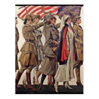 WWI Women Nursing Recruiters Postcard