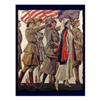 WWI Women Nursing Recruits Postcards