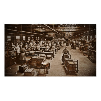 WWI Women Workers in Munitions Factory Pack Of Standard Business Cards