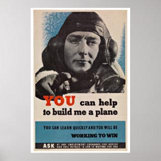 WWII Aircraft Pilot - Vintage Patriotism Posters