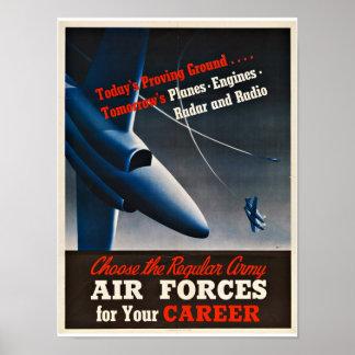 WWII Aircraft - Vintage Patriotism Print