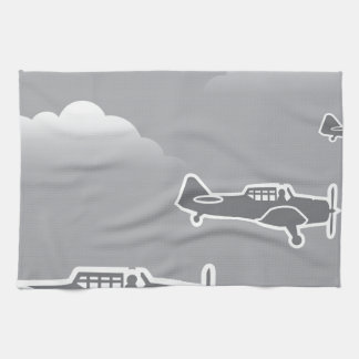 WWII Airplanes Kitchen Towels