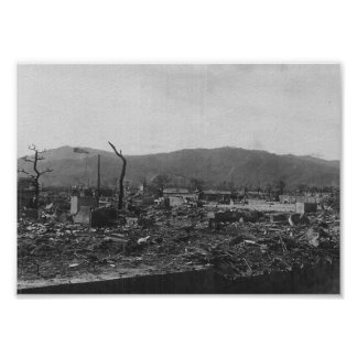 WWII Atomic Bomb Photo of Hiroshima Poster