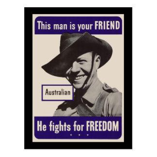 WWII Australian Postcard