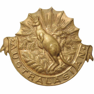WWII Australian Skippy Hat Badge Magnet Photo Sculpture Magnet