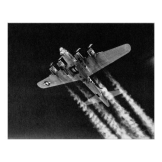 WWII B-17 in Flight Poster