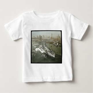 WWII Battleship on the Hudson River Vintage Baby T-Shirt