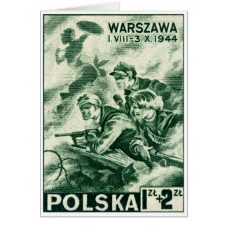 WWII Defenders of Warsaw Card