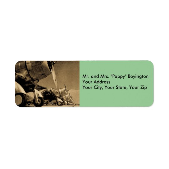 WWII Douglas SBD Dauntlesses Fighter Planes Return Address Label