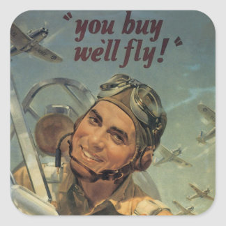 WWII Era Square Sticker