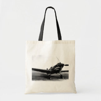 WWII Flying Tigers Curtiss P-40 Fighter Plane Budget Tote Bag