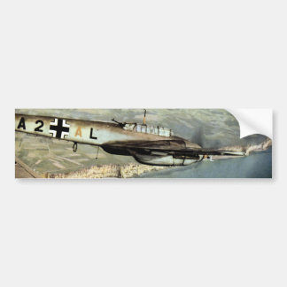 WWII German ME-110 over English Channel Bumper Sticker