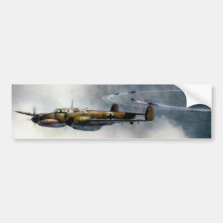WWII German ME-110 over the North Sea Bumper Sticker