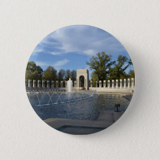 WWII Memorial Fountain. Atlantic Side 6 Cm Round Badge