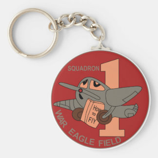 WWII Patch AAF 1 SQ 14th AAFFTD - 1st Squadron Key Chains