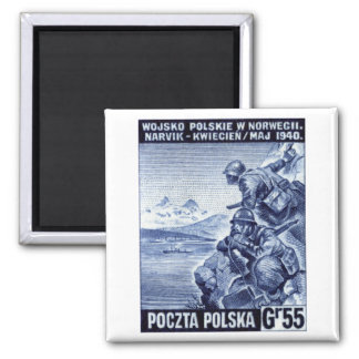 WWII Polish Army in Narvik, Norway Square Magnet