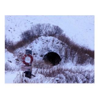 WWII Quonset Hut in Winter, Unalaska Island Postcard