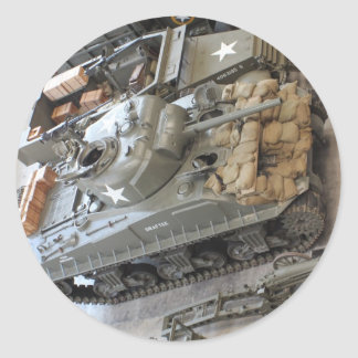 WWII Tanks Round Sticker