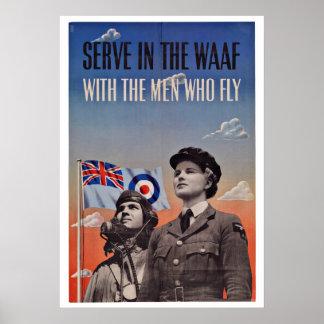 WWII UK Pilots - Vintage Patriotism Print