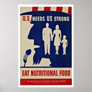 WWII Uncle Sam - Vintage Patriotism Poster